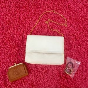 Lot of Bag, Coin Purse, and Hair Tie